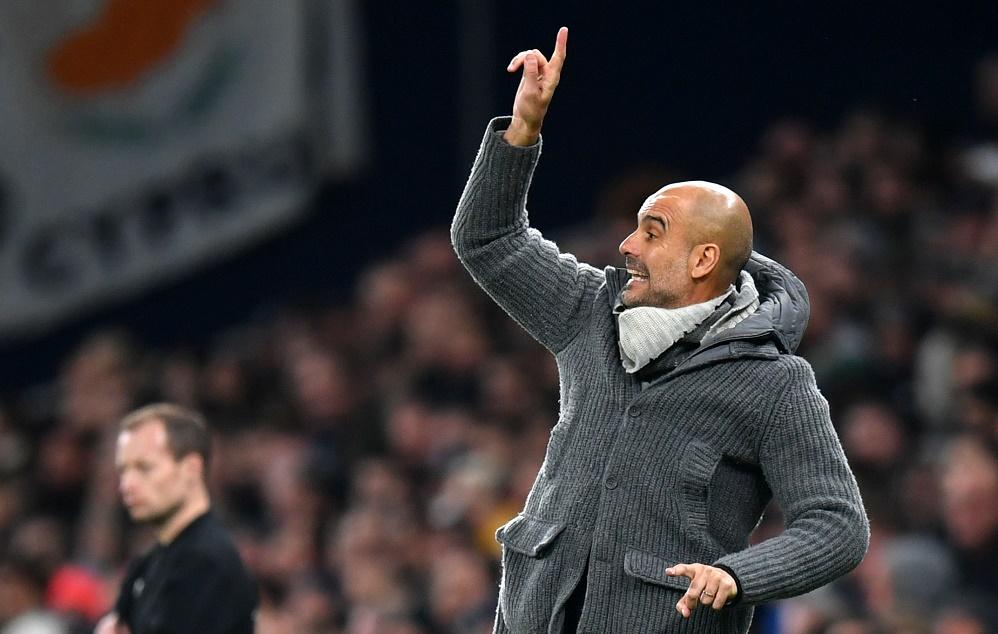 Pep Guardiola shouting