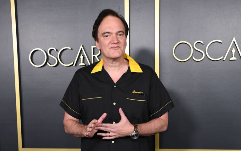 US film director Quentin Tarantino arrives for the 2020 Oscars Nominees Luncheon at the Dolby theatre in Hollywood on January 27, 2020. (Photo by Valerie MACON / AFP) (Photo by VALERIE MACON/AFP via Getty Images)