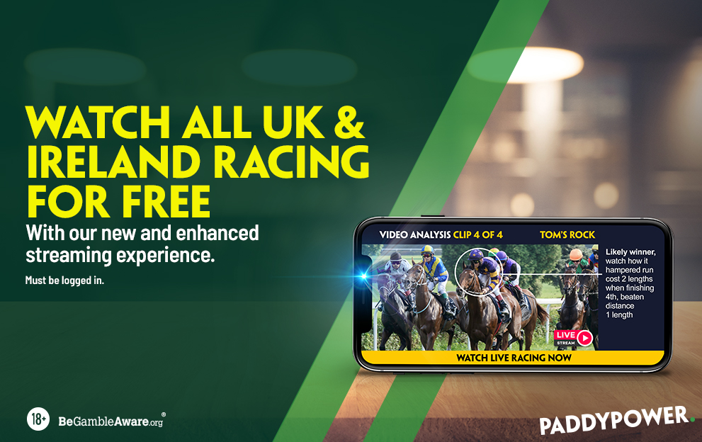 Horse Racing Live Streaming on Paddy Power