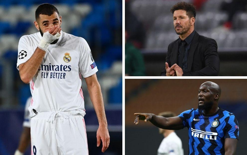 Karim Benzema Real Madrid Antonio Conte Atletico Madrid Romelu Lukaku Inter Milan