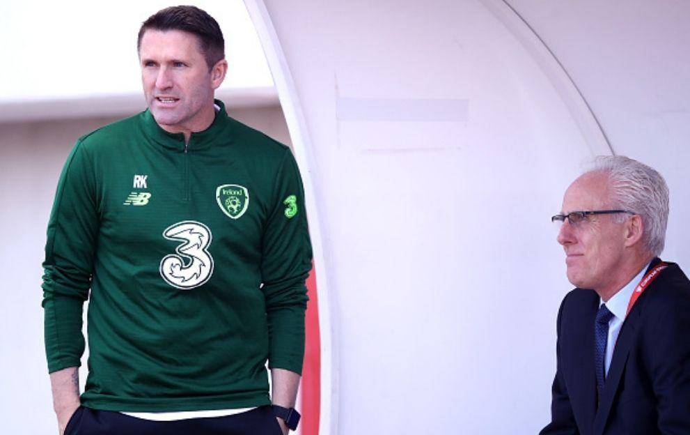 Robbie Keane Mick McCarthy Republic of Ireland