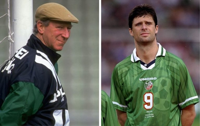Jack Charlton Niall Quinn Republic of Ireland