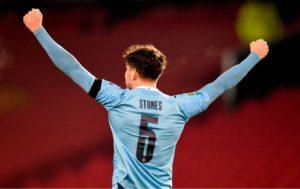 John Stones Man City Man Utd League Cup January 6, 2021