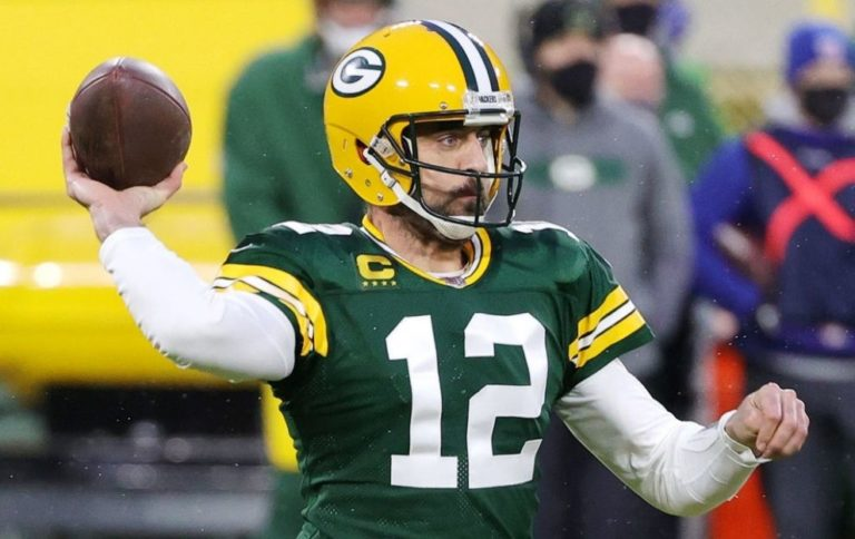 Aaron Rodgers Green Bay Packers Los Angeles Rams January 16, 2021