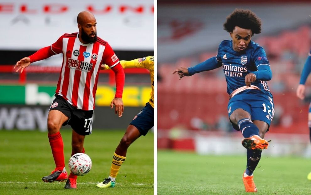 David McGoldrick Sheffield United Willian Arsenal